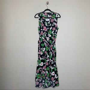 Who What Wear Floral Sleeveless Midi Dress